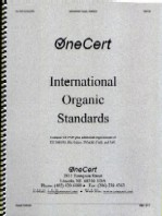 OneCert International Organic           Standards